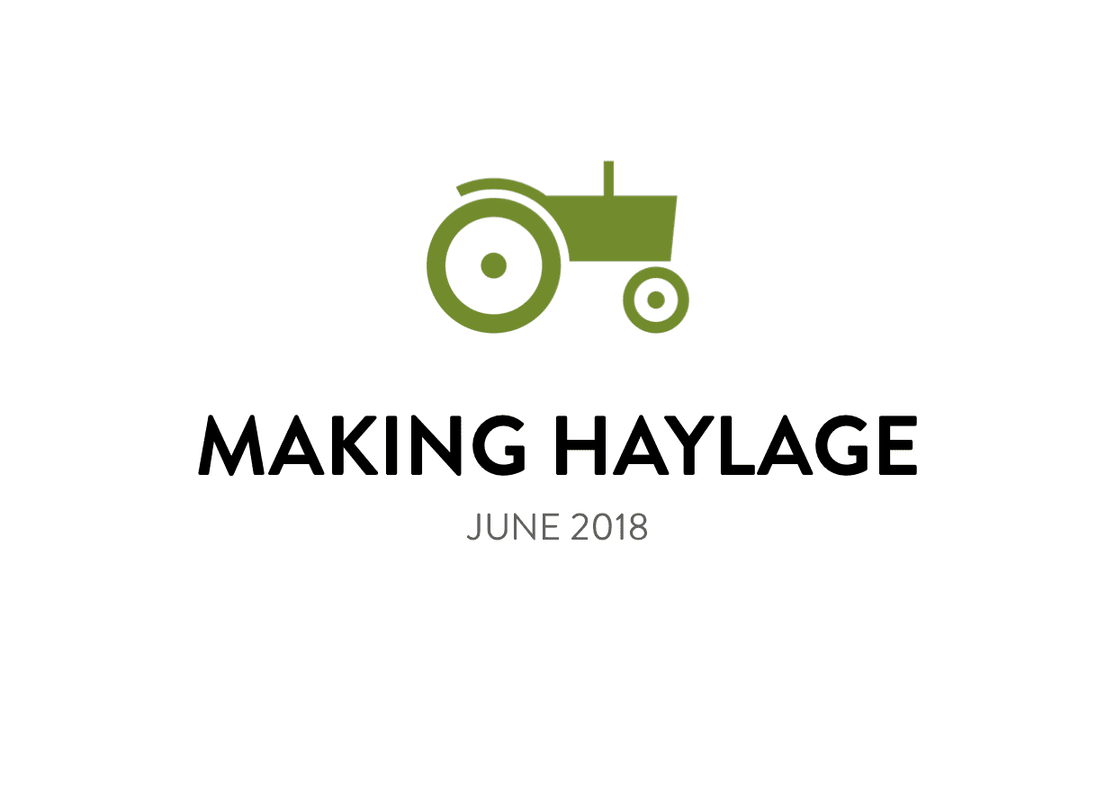 June Haylage Making at Hartley Farm