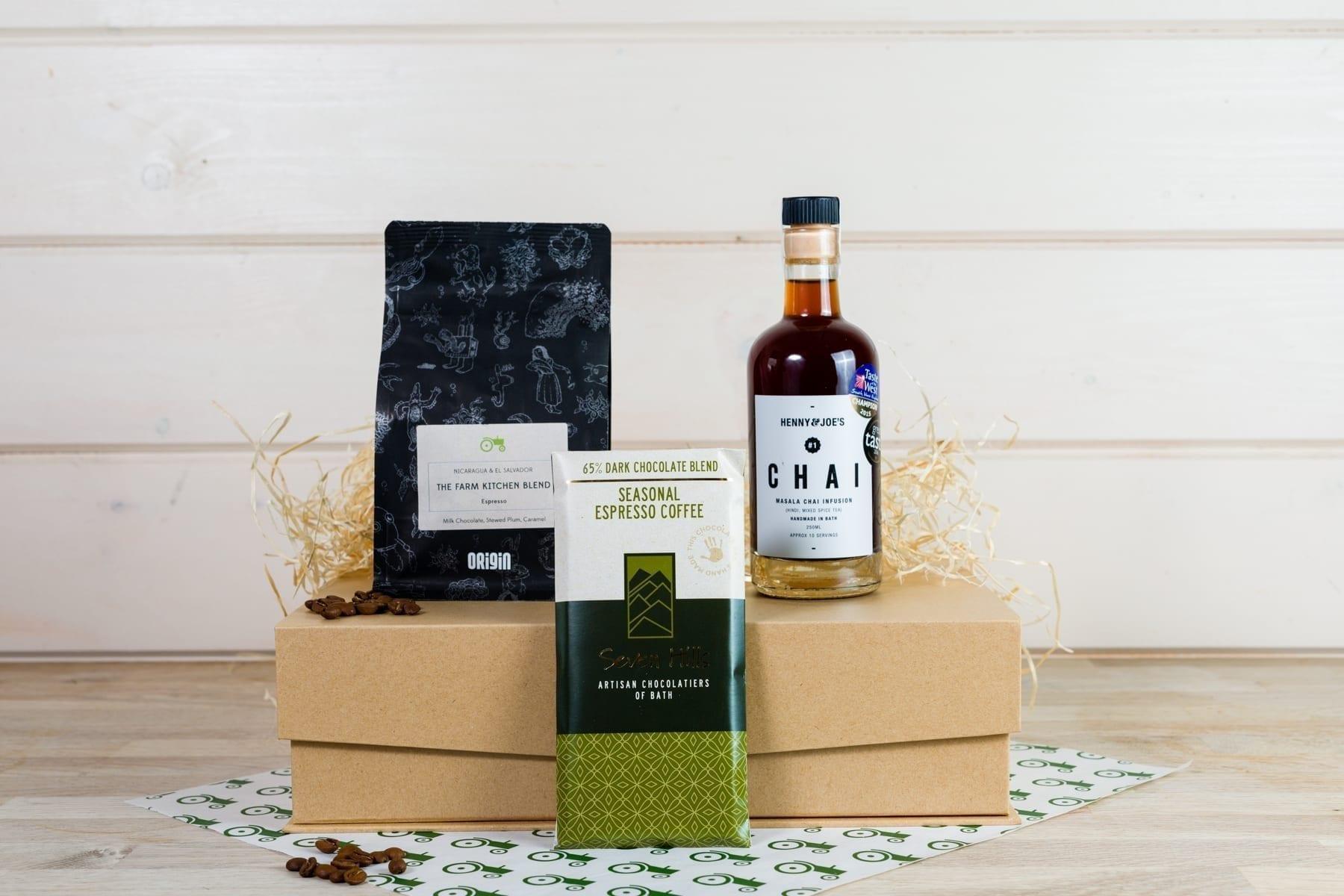 Bath coffee lovers gift box