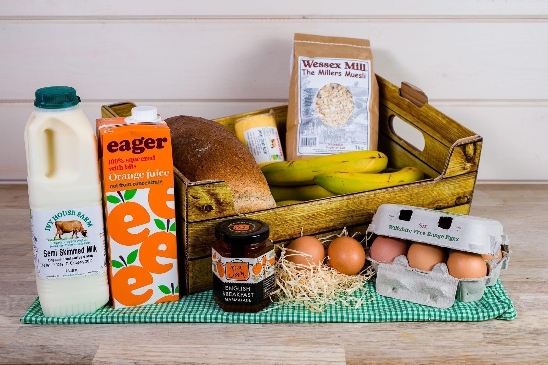 Breakfast essential self-catering box
