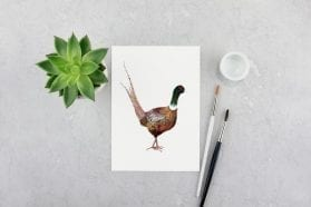 pheasant print