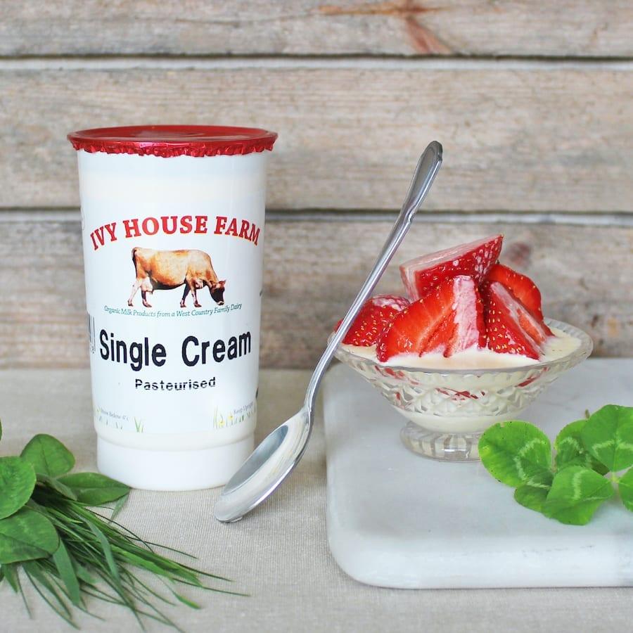 Organic Jersey Single Cream 10 Floz
