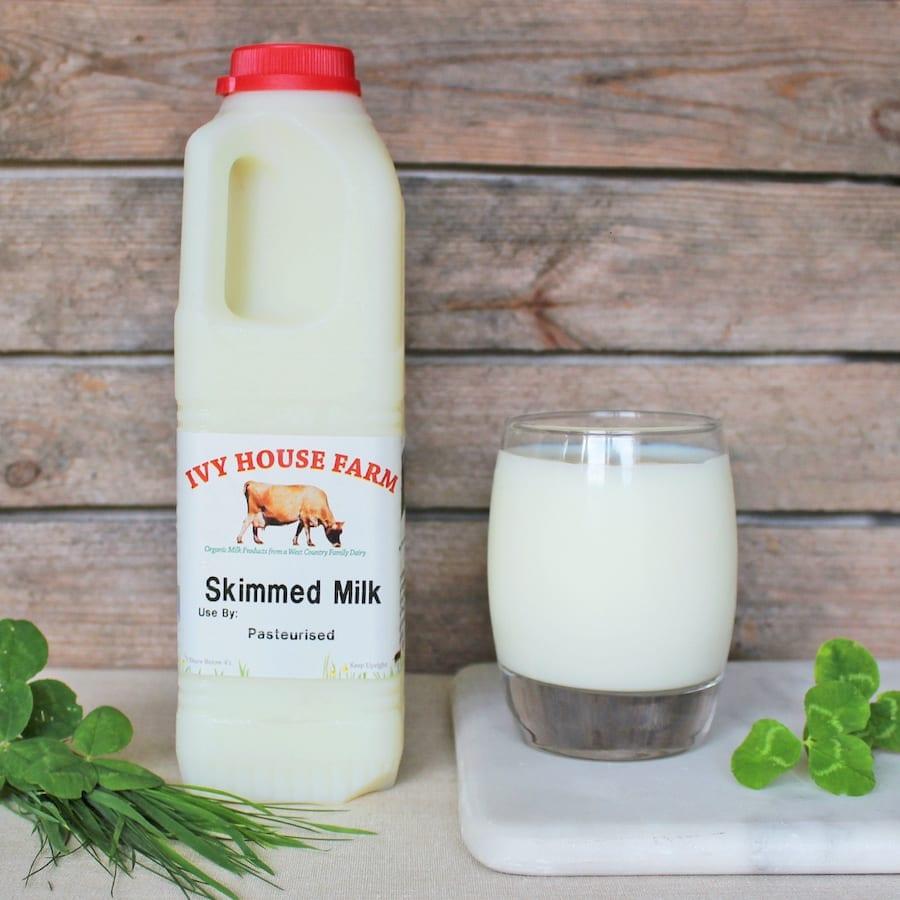 Organic Jersey Skimmed Milk 1 Litre