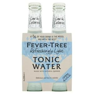 Fever Tree Refreshingly Light Indian Tonic Water 4 x 200ml