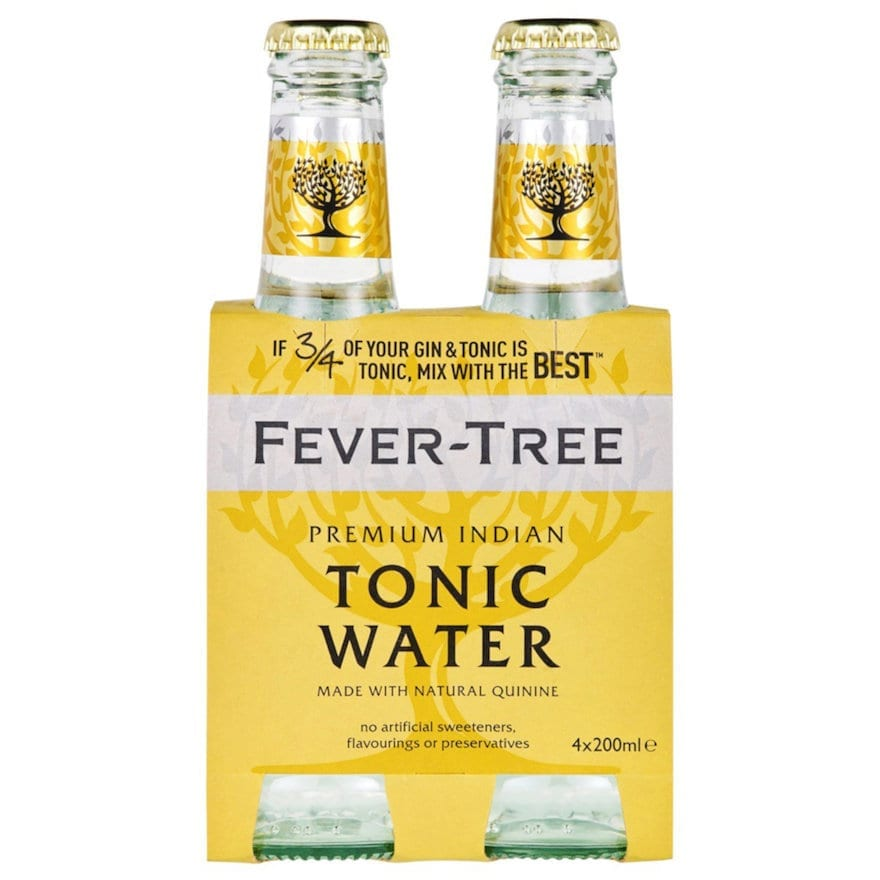 Fever Tree Premium Indian Tonic Water 4 x 200ml